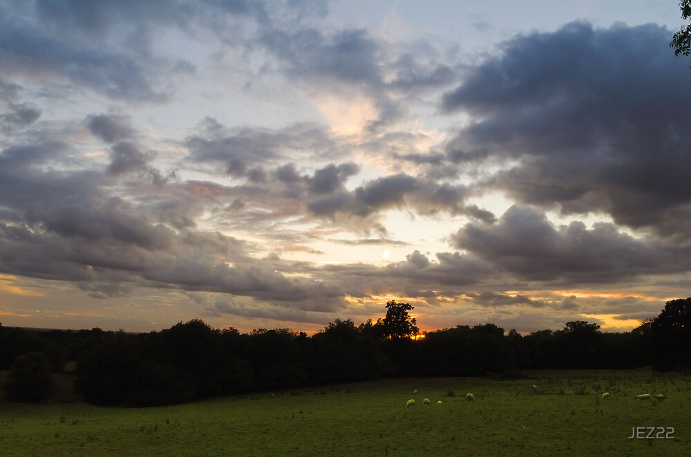 Pluckley Sunset by JEZ22