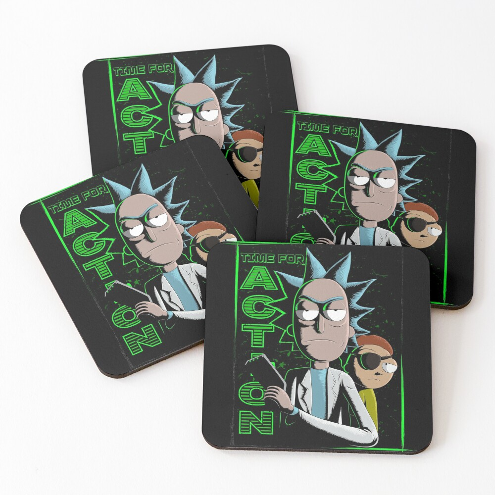 Time For Action Coasters (Set of 4)
