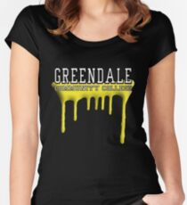 Community - Greendale Paintball Yellow Women's Fitted Scoop T-Shirt