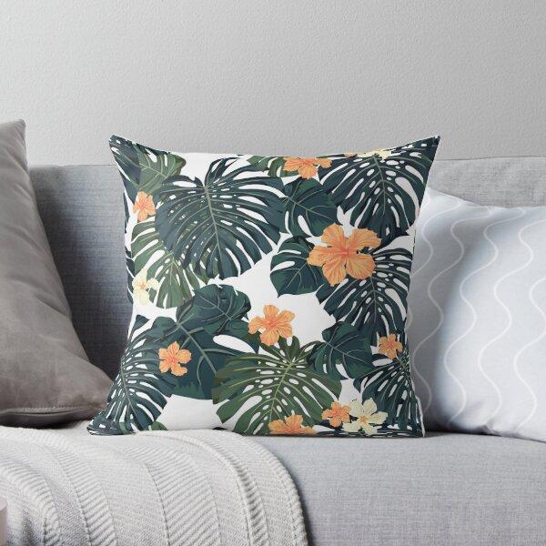 Tropical blossom Throw Pillow