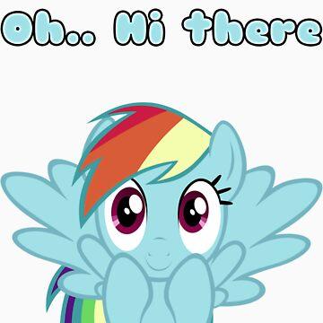 Rainbow Dash says Hi by Marmbo