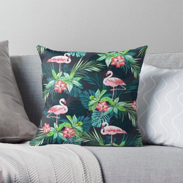 Bright Flamingos Throw Pillow