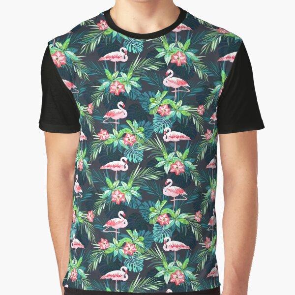 Bright Flamingos Graphic T-Shirt