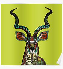 antelope chartreuse Poster