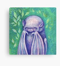Dorky Pink Bat Canvas Print