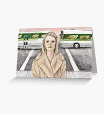 by way of the green line bus Greeting Card