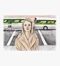 by way of the green line bus Photographic Print