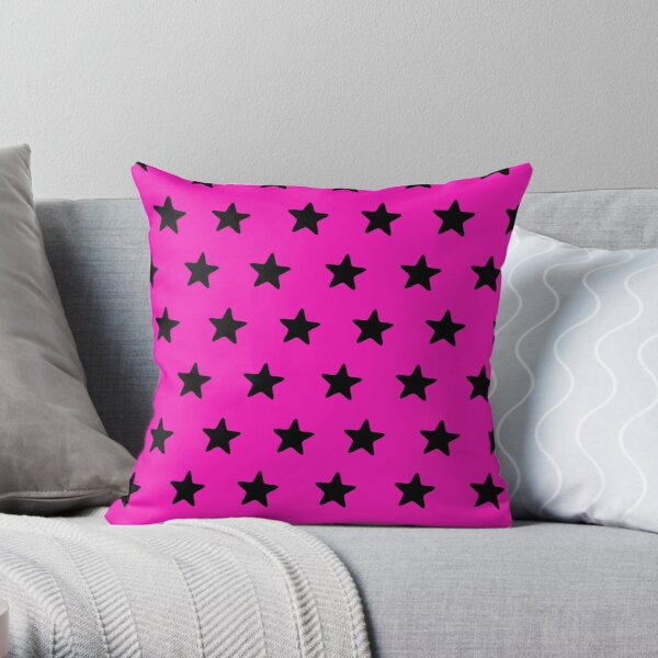 Starry pinksation Throw Pillow
