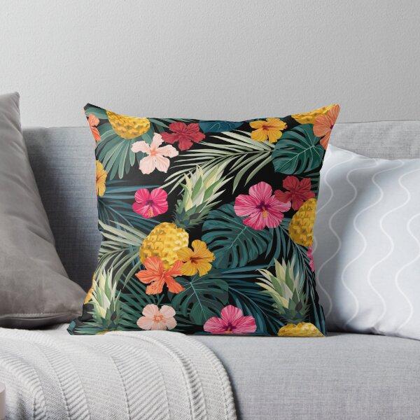Dark pineapple Throw Pillow