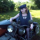 Indian Motorcycle with Side car with Dori Jean #2 by LibertyCalendar