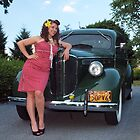 Jordan and the 1938 Dodge by LibertyCalendar