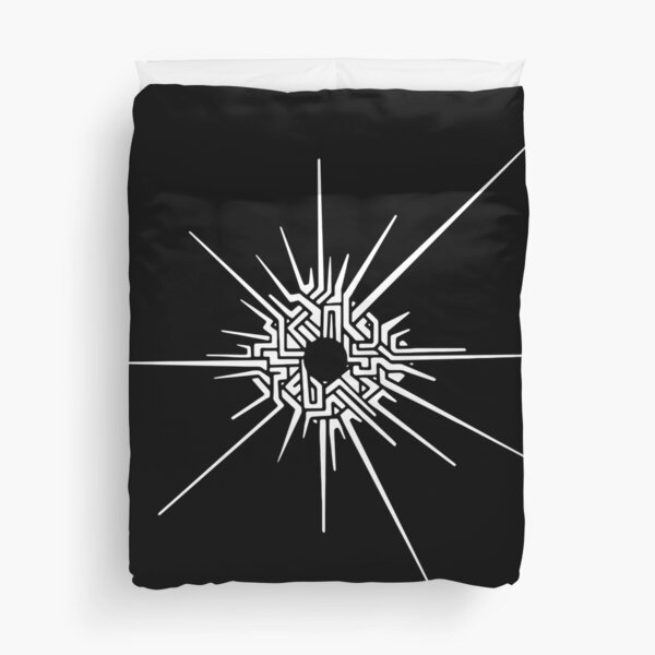 Outer Wilds™ - Eye of the Universe (Symbol) [White] Duvet Cover