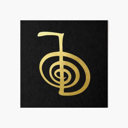 Reiki curación CHO KU REI El símbolo espiritual de oro elemento espiritual Lámina rígida