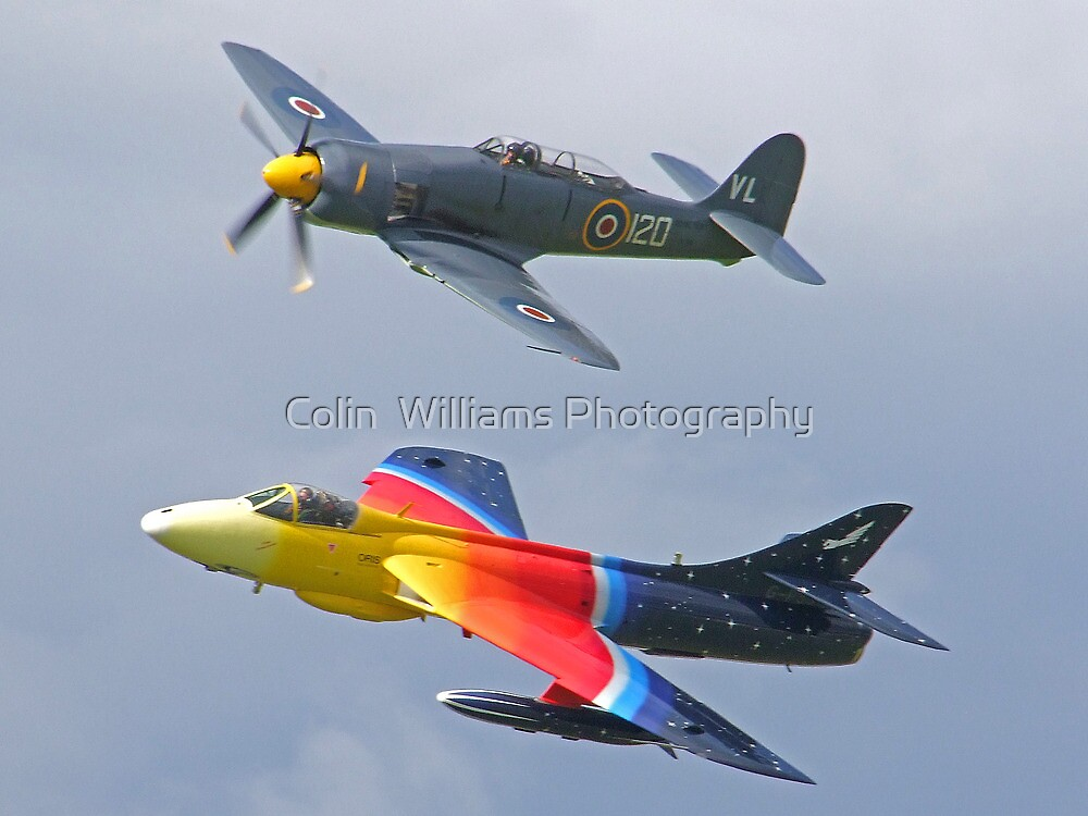 """""""Miss Demeanour"""" Hunter - Sea Fury T20 by Colin  Williams Photography"""