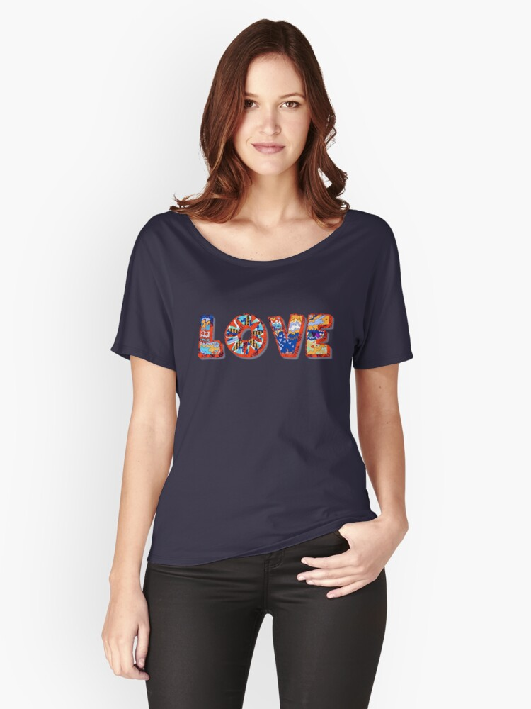 LOVE Women's Relaxed Fit T-Shirt Front
