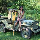 Violet on a Jeep, Tuskegee Airman by LibertyCalendar