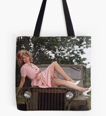Amanda on a 1941 Willys MB Slat Grille Tote Bag