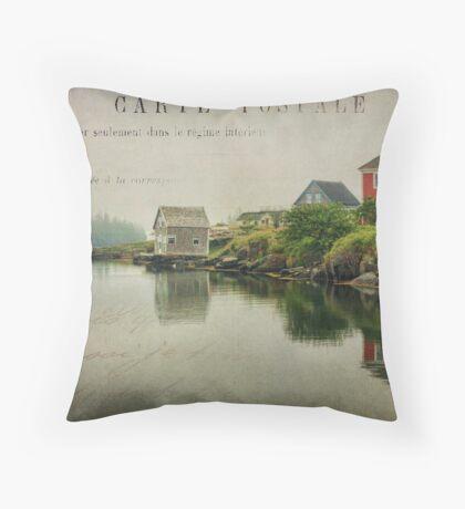 Stonehurst in the Fog II Throw Pillow