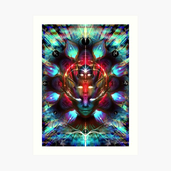 """""""The Congregation Act.1 (Remote Viewing)"""" Art Print"""