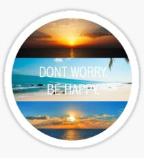 Don't worry, be happy Sticker