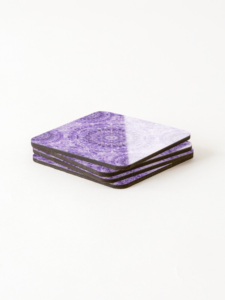 Alternate view of Lilac Lace Mandala Coasters (Set of 4)