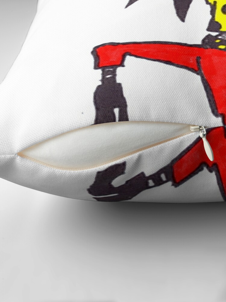 Alternate view of I'm on fire Throw Pillow