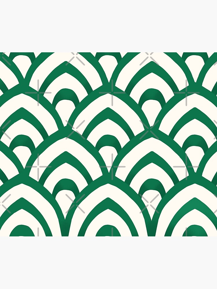 Emerald Green and white Pattern by trajeado14
