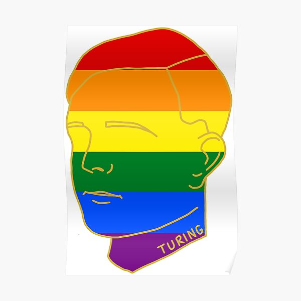 HISTORICAL GAY ICONS - Alan Turing Poster