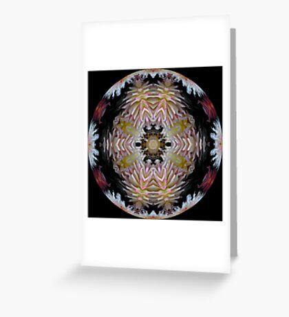Dazzling Dahlias Ball Greeting Card