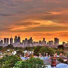Melbourne Skyline by Andre van Eyssen