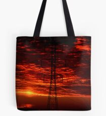 Sunset Behind the Dynamo Tote Bag