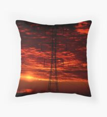 Sunset Behind the Dynamo Throw Pillow