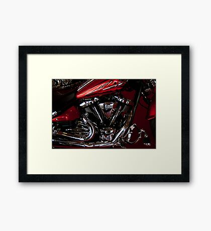 Side Shot Harley Framed Print