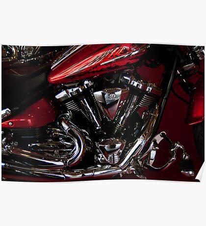 Side Shot Harley Poster