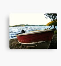 Boat at Lac La Blanche, Quebec Canvas Print