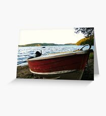 Boat at Lac La Blanche, Quebec Greeting Card