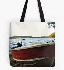 Boat at Lac La Blanche, Quebec Tote Bag