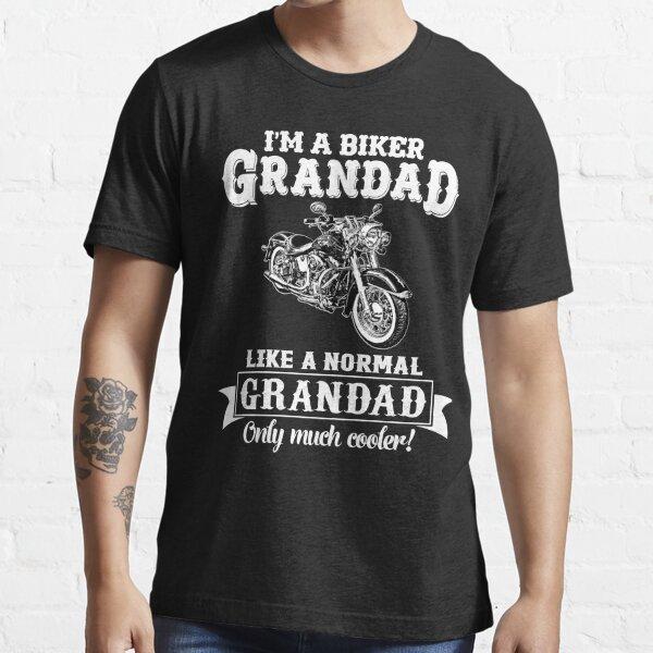 Biker Grandad, Comme Grandad normale, Only Cooler Art. T-shirt Hoodies. T-shirt essentiel