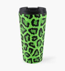 Grüner Leopard Animal Print Thermosbecher