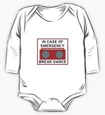 In Case Of Emergency Break Dance (light shirts) One Piece - Long Sleeve