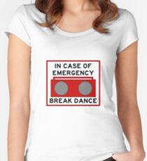 In Case Of Emergency Break Dance (light shirts) Women's Fitted Scoop T-Shirt