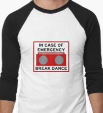 In Case Of Emergency Break Dance (light shirts) Men's Baseball ¾ T-Shirt