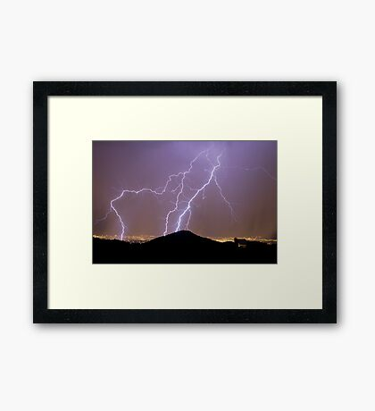 New Mexico Laser Show Framed Print