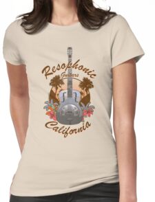 Resophonic Guitar - California (brown) Womens Fitted T-Shirt