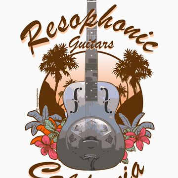Resophonic Guitar - California (brown) by DocMiguel