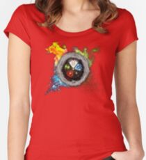 Elemental  Battle Women's Fitted Scoop T-Shirt