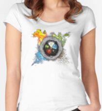 Elemental  Battle Women's Fitted Scoop T-Shirt