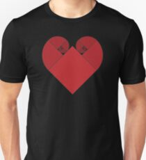 Golden Spiral Heart T-Shirt