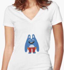 Bingo Bronson Women's Fitted V-Neck T-Shirt