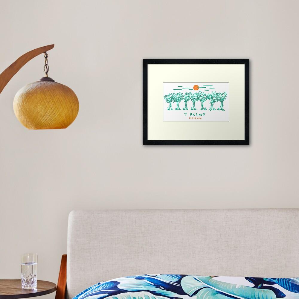 7 Palms (2020 edition) Framed Art Print